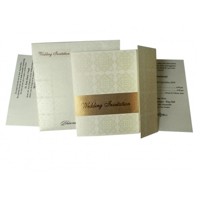 Golden and White Theme Invitation Card - IC_33