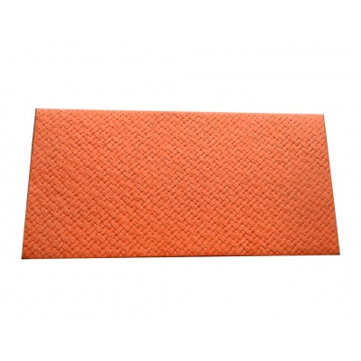 Front view of Signature Envelope in Soft Orange Jute Mix Fabric