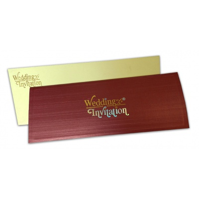 Metallic Brick Texture Invitation - WC_115