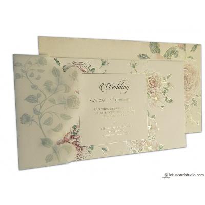 Pink Rose Wedding Card - WC_95