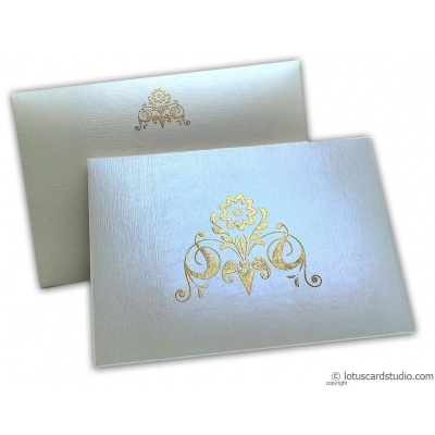Perfumed Thank You Card in Ivory with Golden Design