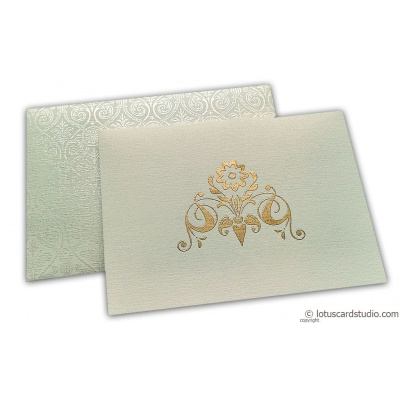 Thank you Card in White Canvas with Golden Symbol - TYC_03