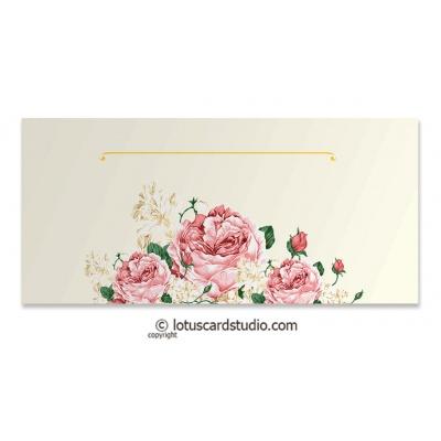 Front view of Pink Vintage Floral Gift Envelope