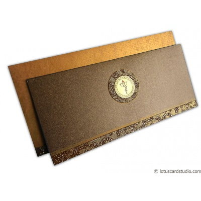 Wedding Card in Ironic Golden Brown - WC_140