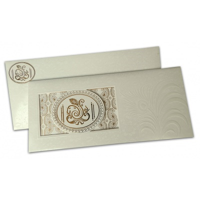 Wedding Invite with Embossed Mor Pankh - WC_114