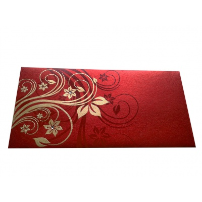 Elegant Floral Theme Shagun Envelopes in Royal Red