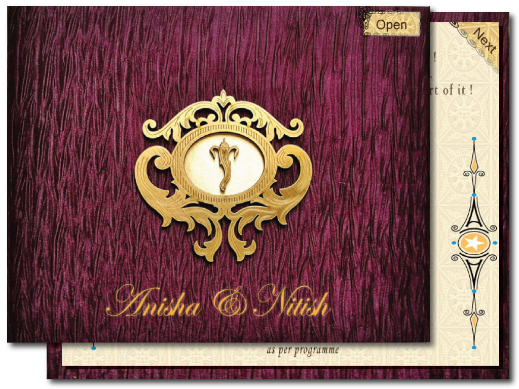 E Card Wedding Invitation: E-Invitation Wedding Card