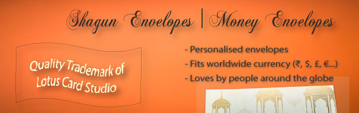 Buy from the best priced range of shagun envelopes online in multiple colours and designs