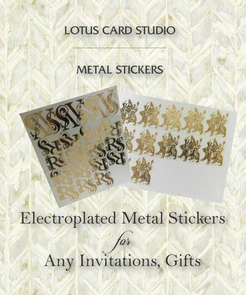 Electroplated metallic stickers