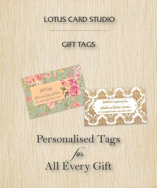 Personalised gift tags online